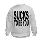 suckstobeyoublk.png Kids Sweatshirt