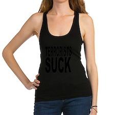 terroristssuck.png Racerback Tank Top