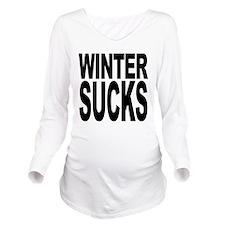 wintersucksblk.png Long Sleeve Maternity T-Shirt