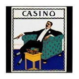 Casino Cigar Tile Coaster