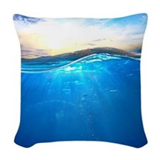Underwater Ocean Woven Throw Pillow