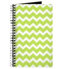 Lime Green Chevron Pattern Journal