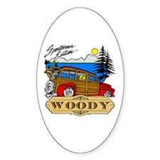 Woody Sportsman Edition Oval Sticker