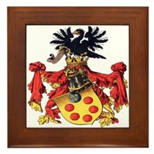Medici Coat of Arms Framed Tile