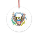 U.S. Army Eagle Ornament (Round)