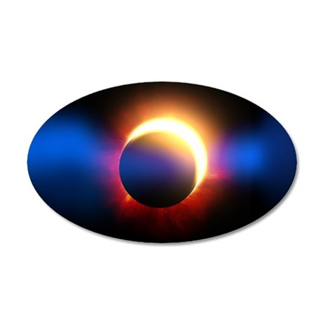 Solar Eclipse 20x12 Oval Wall Decal