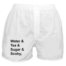 Water Tea Sugar Scoby Boxer Shorts