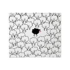 Black Sheep Throw Blanket