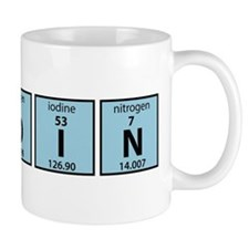 Periodic Table of Bitcoin Elements Mugs