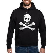 Pixel Skull White Hoodie