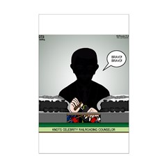 Railroading Counselor Mini Poster Print