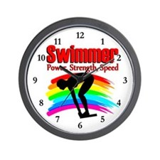 #1 SWIMMER Wall Clock