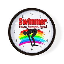 #1 SWIMMER Wall Clock