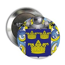 """Wards Family Crest (Coat of Arms) 2.25"""" Button"""