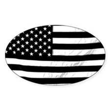 Black and White Flag Decal