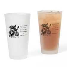Pirate Justice Scalia Constitution Drinking Glass