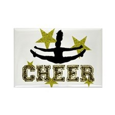 Cheerleader Gold and Black Magnets