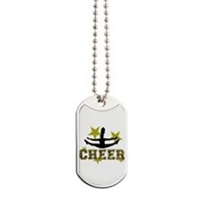 Cheerleader Gold and Black Dog Tags