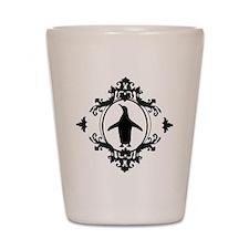 Ornate Penguin Shot Glass