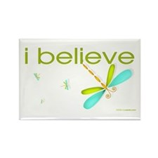 I believe in Dragonflies Rectangle Magnet (10 pack