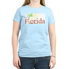 Florida Palm Women's Pink T-Shirt