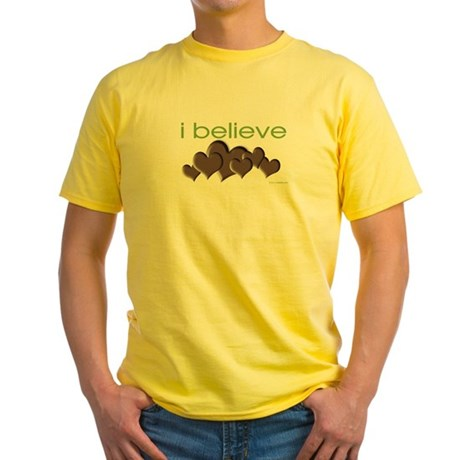 I believe in chocolate Yellow T-Shirt