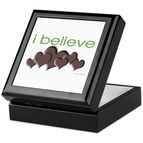 I believe in chocolate Keepsake Box