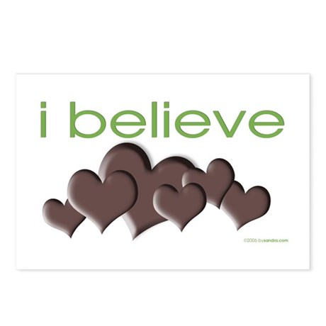 I believe in chocolate Postcards (Package of 8)