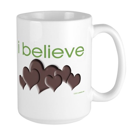 I believe in chocolate Large Mug