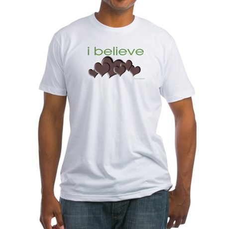 I believe in chocolate Fitted T-Shirt