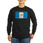 Guatemala Guatemalan Flag Long Sleeve Black Shirt