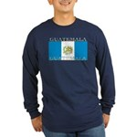 Guatemala Guatemalan Flag Long Sleeve Blue Shirt