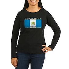 Guatemala Flag Women's Long Sleeve Brown Shirt
