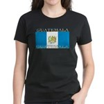 Guatemala Guatemalan Flag Women's Black T-Shirt