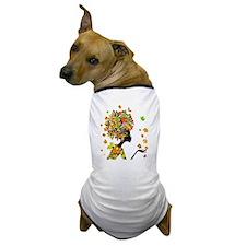 Flower Power Lady Dog T-Shirt