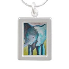 Canon's Elephant Silver Portrait Necklace