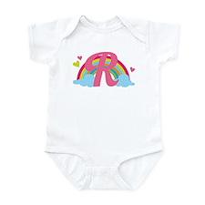 Letter R Rainbow Monogrammed Infant Bodysuit