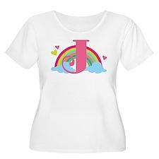 Letter J Rainbow Monogrammed T-Shirt