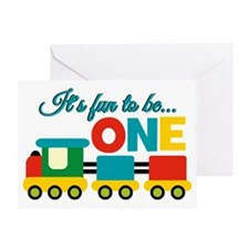 Its Fun to be One Birthday Design Greeting Cards