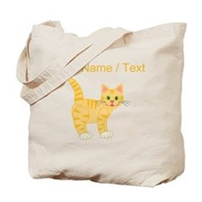 Custom Orange Cat Tote Bag