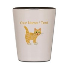 Custom Orange Cat Shot Glass