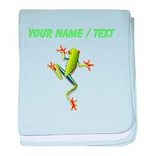 Custom Poison Dart Frog baby blanket