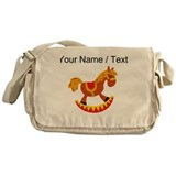 Rocking horse personalize Messenger Bags & Laptop Bags