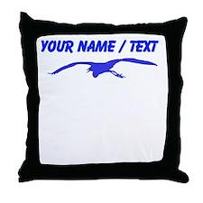 Custom Blue Heron Silhouette Throw Pillow