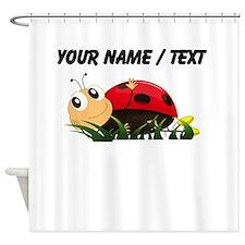 Custom Cartoon Ladybug Shower Curtain