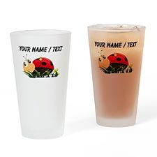 Custom Cartoon Ladybug Drinking Glass