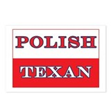 Polish Texan Poland Flag Postcards (Package of 8)