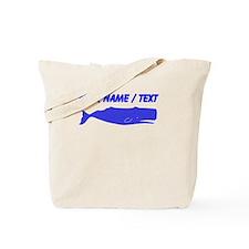 Custom Blue Sperm Whale Tote Bag