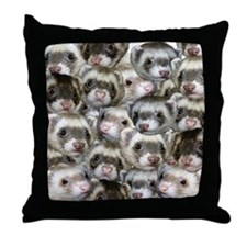 Many ferret throw pillow--really only 5