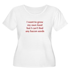 bacon-seeds-opt-dark-red Plus Size T-Shirt
